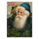 De antiek Kerstkaart van de Kerstman