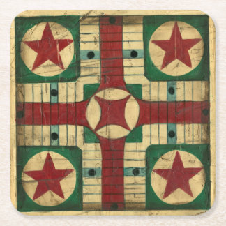 De antiek Raad van het Spel Parcheesi door Ethan Vierkante Onderzetter