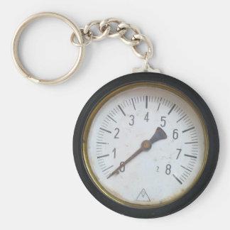 De antiek Ronde Maat Keychain van de Meter van de Sleutelhanger