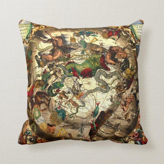 De antiek wijnoogst van de kaart van de wereld van sierkussen zazzle - Thuis kussens van de wereld ...
