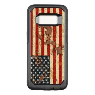 De antiquiteit roestte Amerikaanse Vlag de V.S. OtterBox Commuter Samsung Galaxy S8 Hoesje
