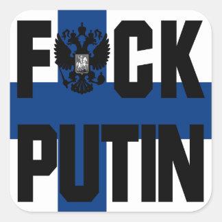 De AntiSticker Putin van Finland Vierkante Sticker