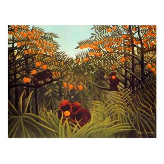 De Apen van Rousseau in het Oranje Bosje Briefkaart