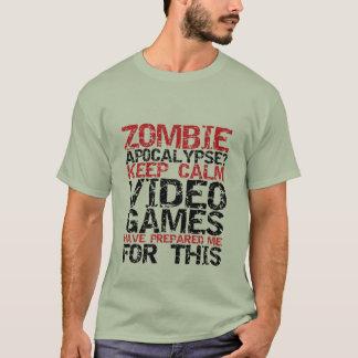 De Apocalyps Gamers van de zombie houdt Kalme T Shirt