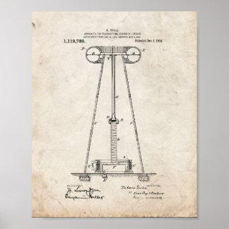 De Apparaten van Tesla om ElektroEnergie Over te Poster