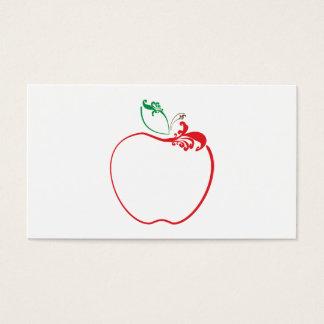 de appel bloeit ponskaart visitekaartjes