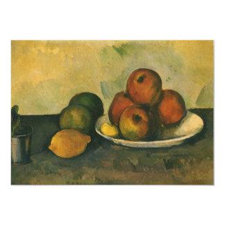 De Appelen van het stilleven w door Cezanne, Aankondiging