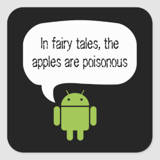 De appelen zijn giftige androïde sticker