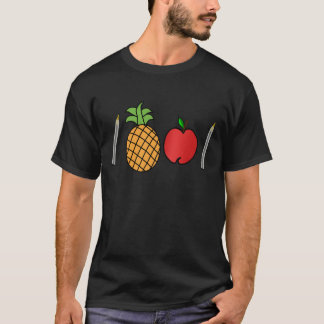 de appelpen van de penananas t shirt