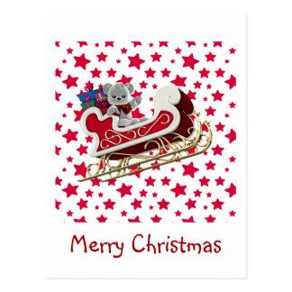 De Ar Teddy van Kerstmis Briefkaart