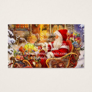 De ar van de kerstman - de illustratie van de visitekaartjes
