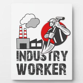 De arbeider van de industrie fotoplaat