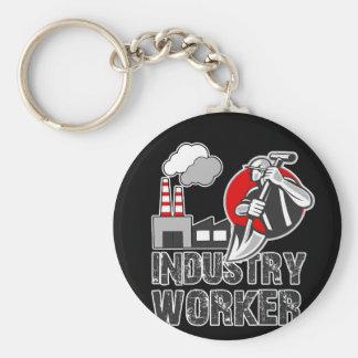 De arbeider van de industrie sleutelhanger