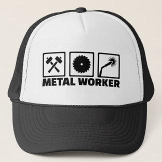 De arbeider van het metaal trucker pet