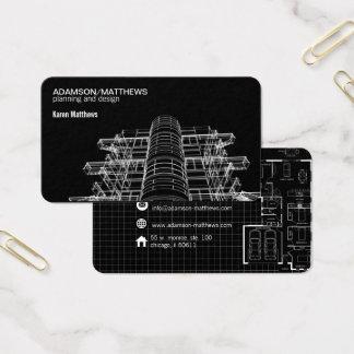 de architecten ontwerper plant visitekaartje visitekaartjes