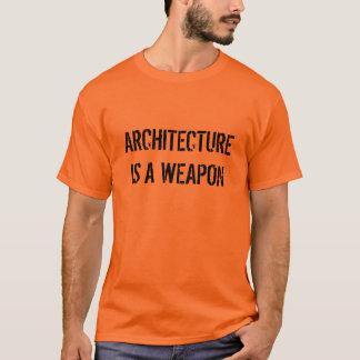 DE ARCHITECTUUR IS EEN WAPEN T SHIRT