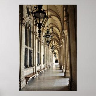 De Architectuur van het Stadhuis van Wenen Poster