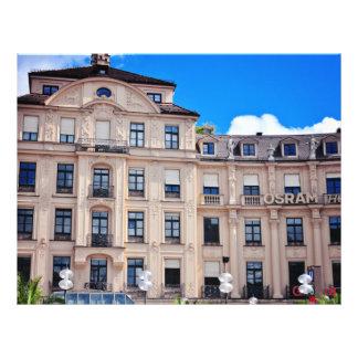 De architectuur van Munchen Folder Ontwerp