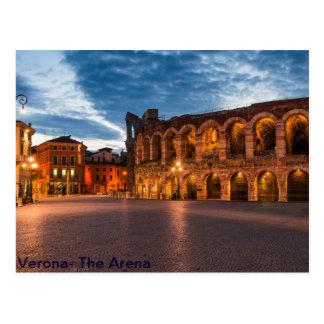 De Arena van Postacard van Verona Briefkaart