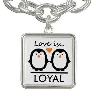 De armband/de charme van de Liefde van de pinguïn Bedel Armband