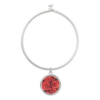 De Armband van de Armband van rozen met Ronde Bangle Armbandje