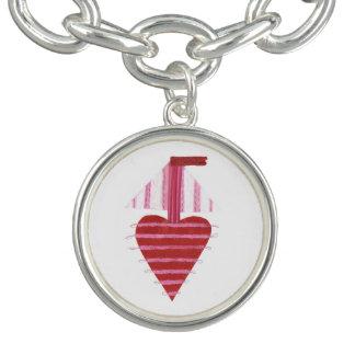 De Armband van de Charme van de Boot van Loveheart