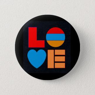 De Armeense LIEFDE van de Vlag om Knoop Եռագույն Ronde Button 5,7 Cm