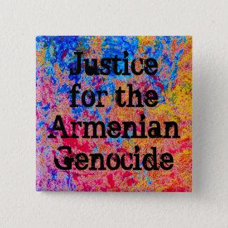 De Armeense Speld van de Volkerenmoord Vierkante Button 5,1 Cm
