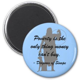 De Armoede van Diogenes Koelkast Magneet