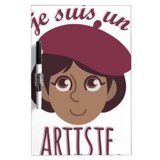De Artiest van de V.N. van Susi van Je Dry Erase Whiteboard