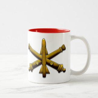 De Artillerie Drinkware van de Defensie van de Tweekleurige Koffiemok