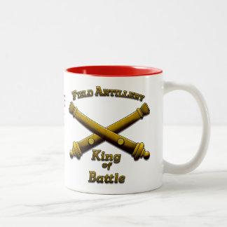 De Artillerie van het gebied - Koning van Slag - Tweekleurige Koffiemok