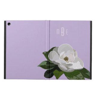 De artistieke Bloem van de Magnolia op Paars iPad Air Hoesje