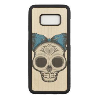 De artistieke Schedel van de Suiker Carved Samsung Galaxy S8 Hoesje
