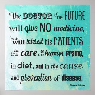 De arts van Toekomstige Edison Quote Poster