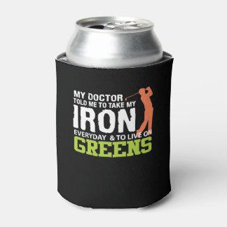 De arts vertelde me neemt Ijzer Levend Groen Golf Blikjeskoeler