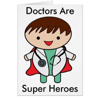 De artsen zijn Super Helden Briefkaarten 0
