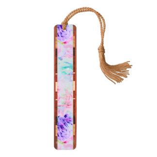 De aster van de waterverf bloemen het schilderen kersen bladwijzer