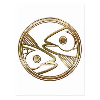 De Astrologie van de Dierenriem van de Vissen van Briefkaart