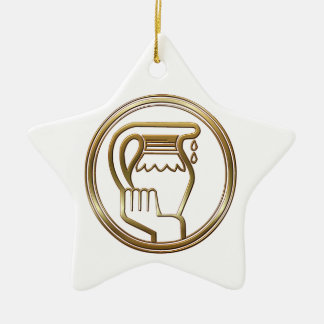 De Astrologie van de Dierenriem van Waterman van Keramisch Ster Ornament