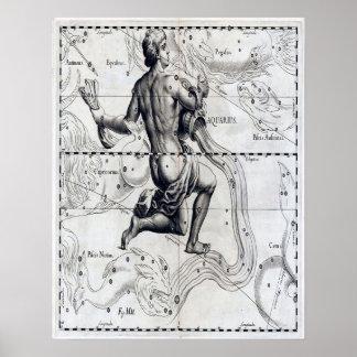 De astrologieposter van Waterman Poster