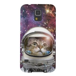 De astronaut van de kat - gekke kat - kat galaxy s5 hoesje