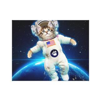 De astronaut van de kat - ruimtekat - de minnaar canvas afdrukken