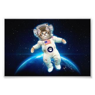 De astronaut van de kat - ruimtekat - de minnaar foto