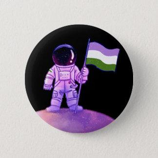 De Astronaut van de trots [Genderqueer] Ronde Button 5,7 Cm