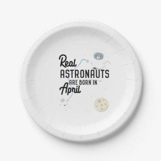 De astronauten zijn geboren in April Zg6v6 Papieren Bordje