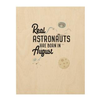 De astronauten zijn geboren in Augustus Ztw1w Hout Afdruk