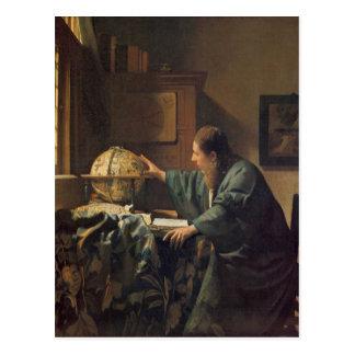 De astronoom door Johannes Vermeer Briefkaart