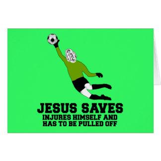 De atheïst Jesus van de parodie spaart Wenskaart
