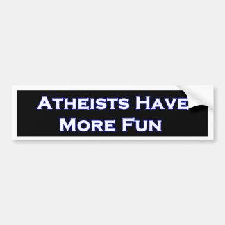 De atheïsten hebben Meer Sticker van de Bumper van